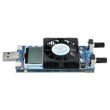 Probador de batería 0.2A ~ 3A 35W probador LCD USB Módulo de carga electrónica potencia de resistencia de corriente constante ajustable con ventilador de refrigeración
