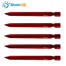 10 pcs ShineTrip  25cm Strong Triangular Tents Peg Nail Aluminium Alloy Stake with Rope Camping Equipment Outdoor Traveling Tent