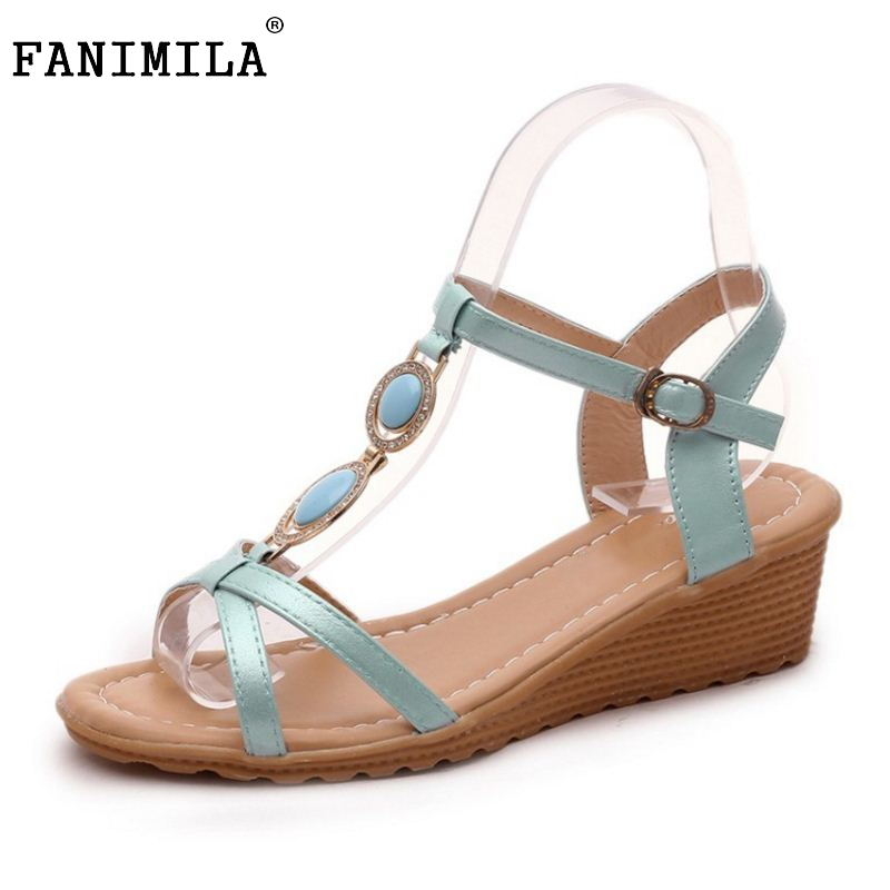 Female Wedges High Heels Sandals T Strap Shoe Open Toe Rhinestone Solid Color Slip On Shoes Women Fashion Footwear Size 35-39 female wedges high heels sandals t strap shoe open toe rhinestone solid color slip on shoes women fashion footwear size 35 39