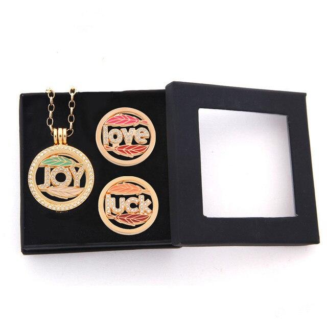 Sanshoor Mein Münzen Geschenkbox Halskette Set Mit Freude Münze