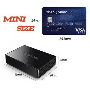 Image 1 - ミニ 5 ポートギガビットイーサネットスイッチ 5 ポート 10/100/1000Mbps デスクトップネットワークスイッチ Lan ハブ小さなとスマートオート Mdi/MDIX
