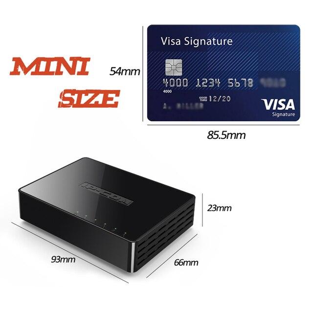 Mini 5 Port Switch Gigabit Ethernet 5 Port 10/100/1000Mbps Desktop Switch di Rete Lan Hub Piccolo e Smart Auto MDI/MDIX