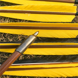 Image 5 - 6/12/24 pcs 32 Handmade Bamboo Arrows For Recurve Longbow Hunting  Archery