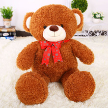 large teddy bear about 100cm plush toy  bowtie bear soft throw pillow, Christmas birthday gift F053