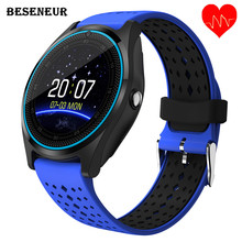 Beseneur V9 HR Smart Watch with Camera Touch Screen Support SIM TF Card Bluetooth Smartwatch for Android Phone Wearable Devices