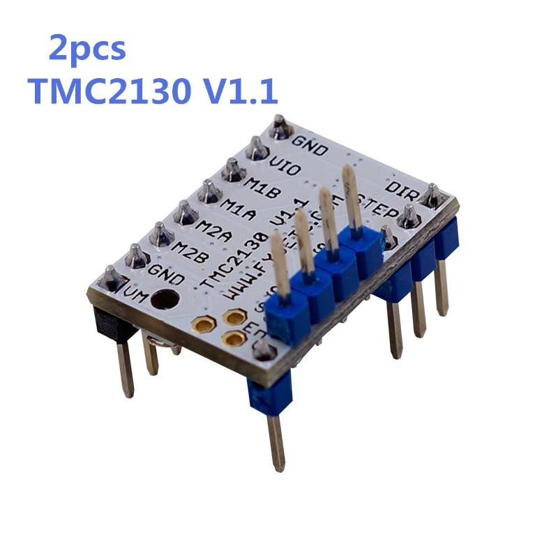 2PCS MKS TMC2130 V1.1 Stepstick Stepper Motor Driver SPI with Heat Sink Ultra-silent Excellent VS TMC2100 TMC2208 TMC2130 V1.0 2x mks tmc2130 v1 1 stepstick stepper motor driver spi with heat sink ultra silent excellent vs tmc2100 tmc2208 tmc2130 v1 0