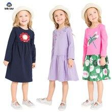 Платье для девочек с длинными рукавами, 2018 Брендовое платье принцессы, одежда для девочек, Vestidos, детские костюмы, детские платья