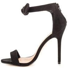 Black Nubuck Leather Gold Rivet Pumps High Heels Hollow Out Shoes Women Platform Peep Toe Simple Style Suede Woman Pumps