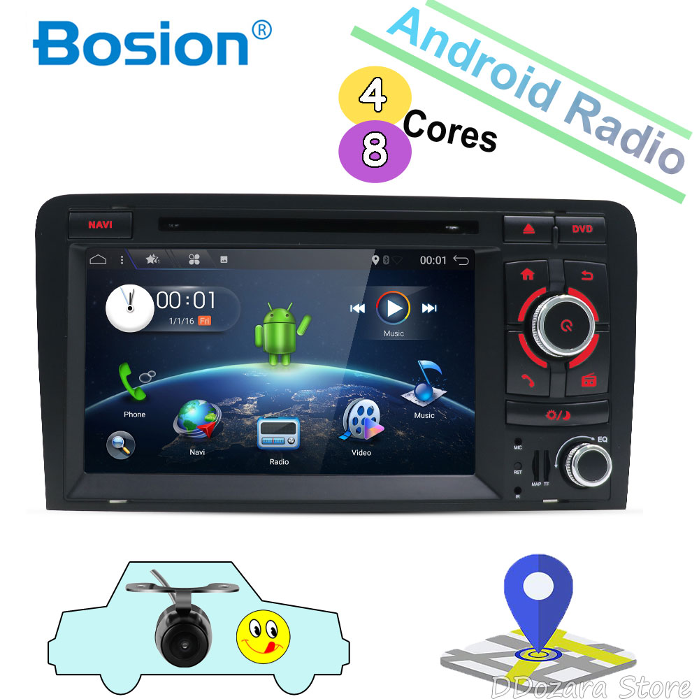 Восьмиядерный для Audi A3 8 P 2003 2011 Автомобильная Мультимедийная DVD 2Din Android 8,1 автомобильное радио с GPS заднего вида Камера Поддержка OBD DAB 4G