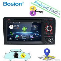 Octa Core For Audi A3 8P 2003 2011 Car Multimedia DVD 2Din Android 8.1 Autoradio GPS Rear View Camera Support OBD DAB 4G