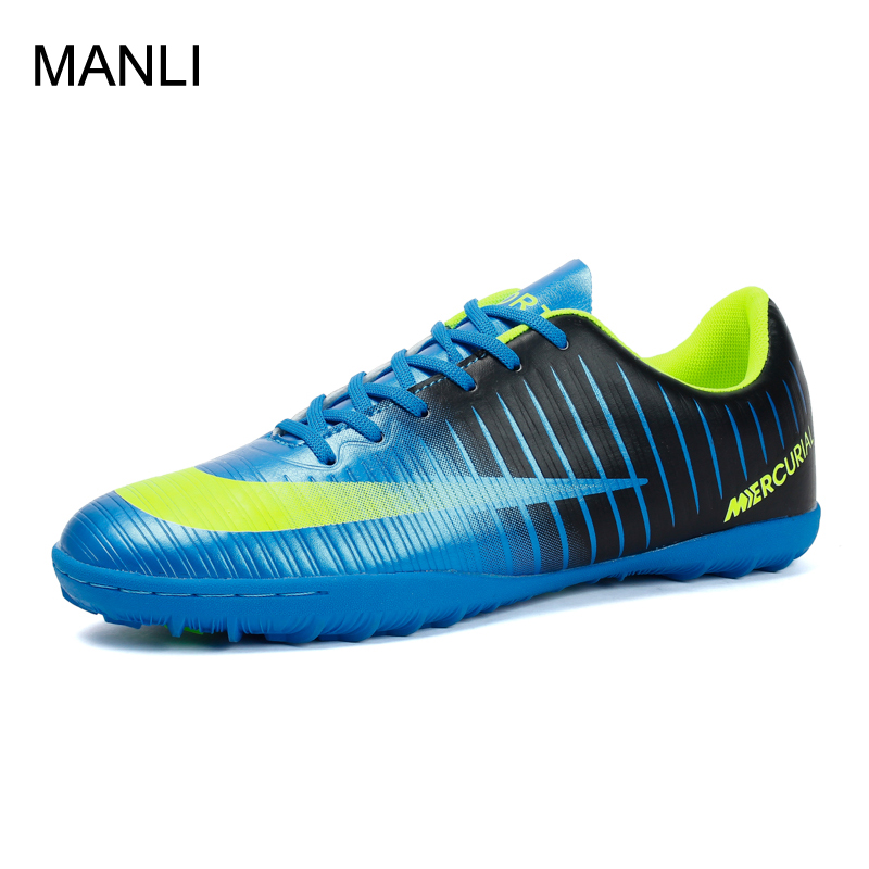 MANLI Professional Men Turf Indoor Soccer Shoes Cleats Kids Original Superfly futsal Football Boots Sneakers chaussure de foot