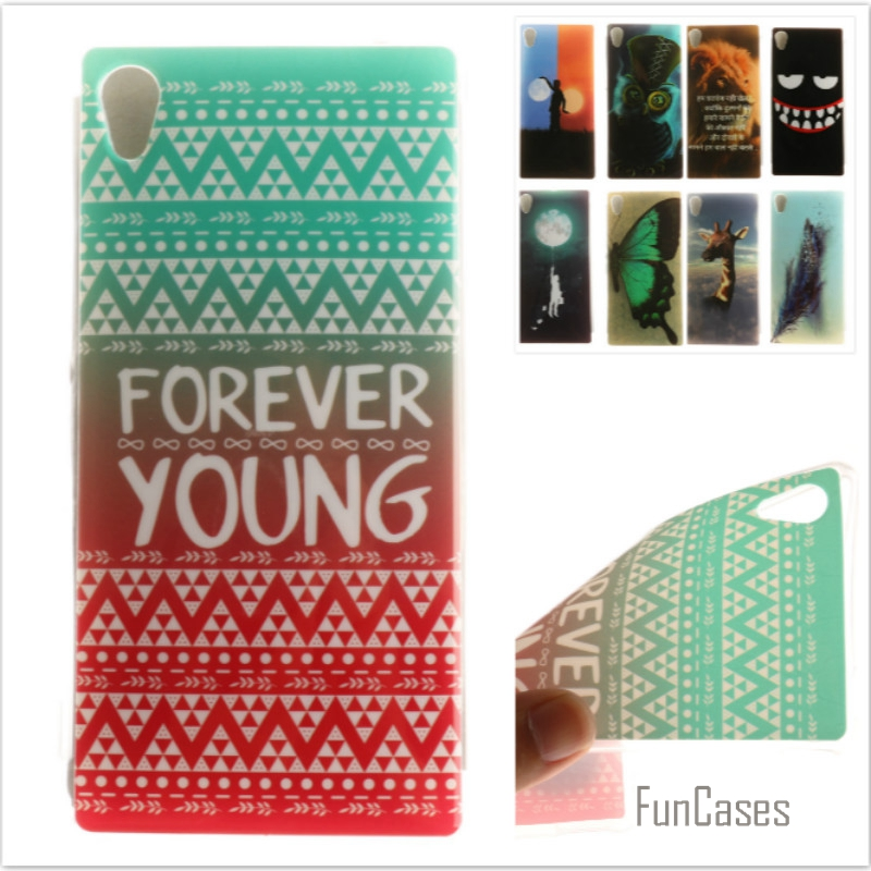 High quality Soft TPU Butterfly flower Pattern phone Cases for Sony Xperia M4 Aqua Dual E2303 E2333 E2353 Rubber Silicon cover