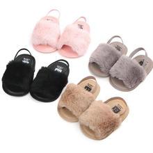 baby girl fur slipper Sneaker shoes baby