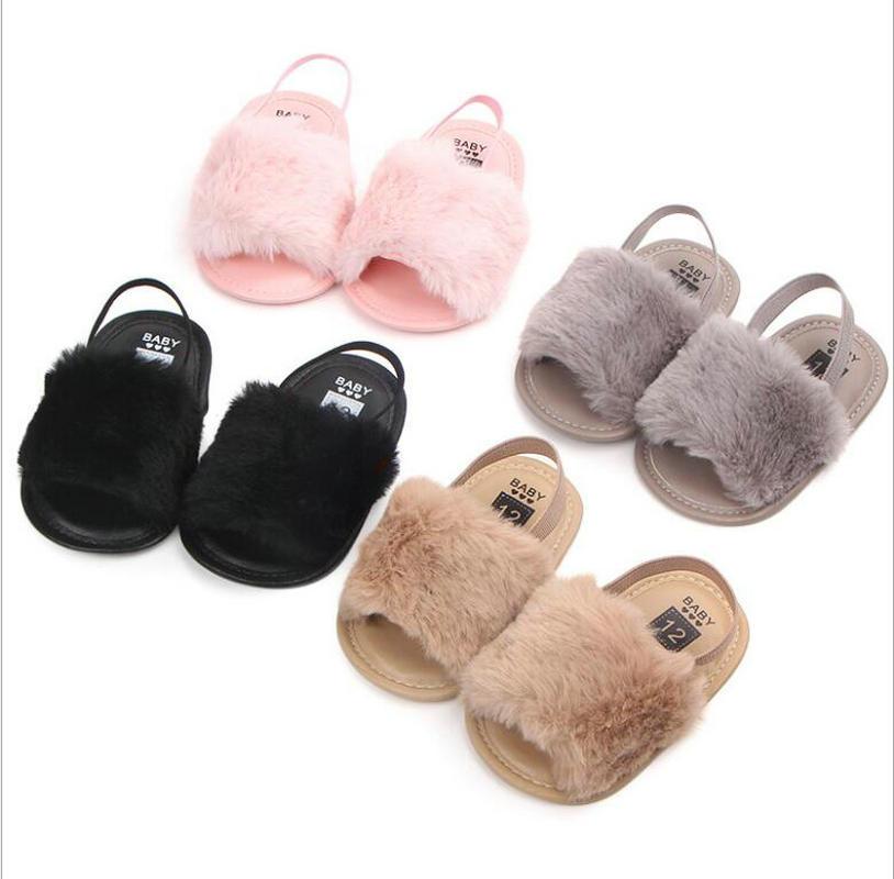 Baby Girl Fur Slipper Sneaker Shoes Baby Girl Footwear Baby Prewalker Shoes Newborn Girl Sneaker Shoe Dropshipping