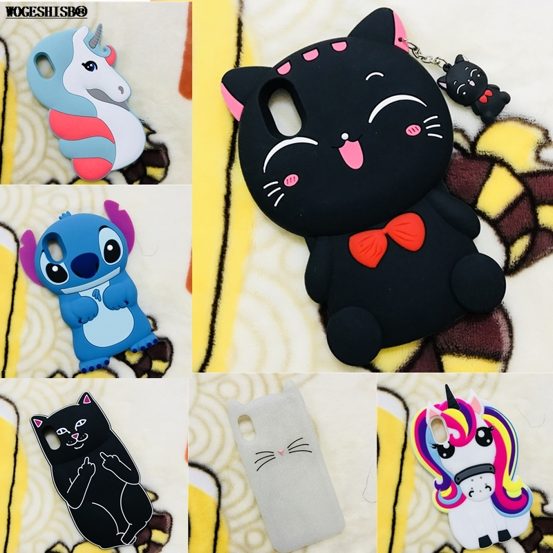 3D Cartoon Silicone <font><b>Case</b></font> for <font><b>iPhone</b></font> 7 Minnie <font><b>Cat</b></font> Rabbit Bunny Unicorn Stitch Bottle Cover for <font><b>iPhone</b></font> SE 5 5S 6 6S 7 <font><b>8</b></font> Plus X 10 image