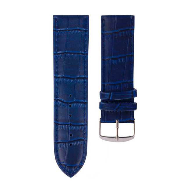 High Quality 22mm Soft Sweatband Watchbands Genuine Leather Straps Steel Buckle