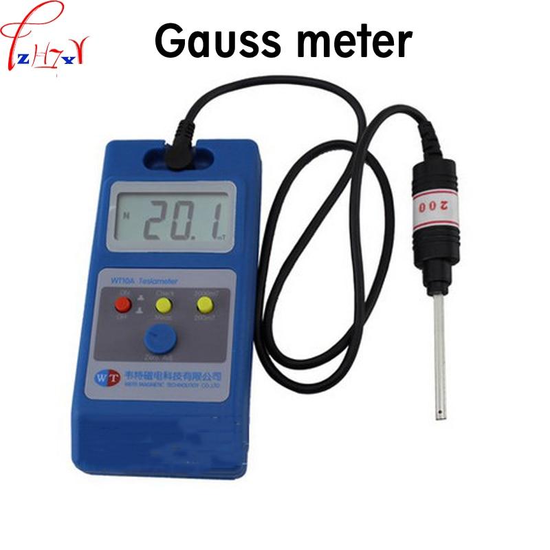 1pc Gauss meter magnetic field strength detector WT10A liquid crystal handheld gauss meter flux meter