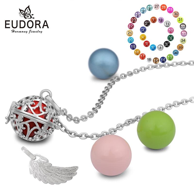 Eudora 16mm Collar de Bola Embarazada Mexicana Aromaterapia Jaula - Bisutería - foto 2