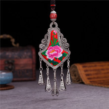necklaces & pendants personality Accessories Retro Ethnic Miao Ceramic beads Classic Embroidery Tassels