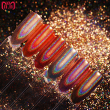 Champagne Nail Glitter Mirror Rainbow Rose Gold Holo Chrome