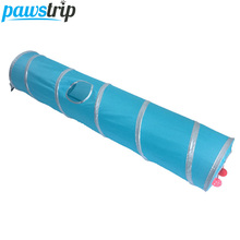 120cm Long Folding Cat Tunnel Toys Nylon Steel Wire Cat Training Toys