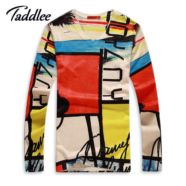 Mens camiseta 3d Impresso Hip Hop Homens Impresso T-shirt de Algodão marca o pescoço Dos Homens Tshirt Longo Da Luva Moda Casual Top Tees verão