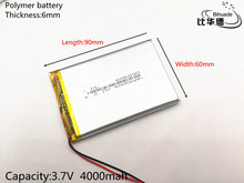 3.7V 4000mAh 606090 Polymer Lithium Li-Po Rechargeable Battery For GPS  DVD