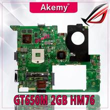 Akemy N76VZ материнская плата для ноутбука ASUS N76VZ n76vm N76VJ N76V Тесты оригинальная материнская плата GT650M 2 ГБ HM76