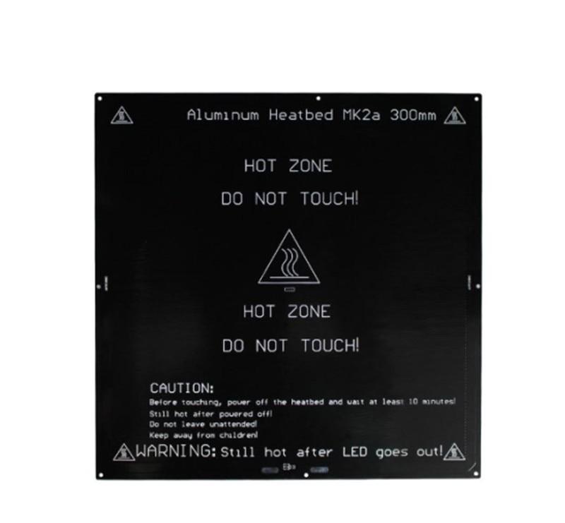 Horizon Elephant   12/24V 300x300mm PCB MK2A heated bed for Reprap Prusa i3 3D printer 3mm thick
