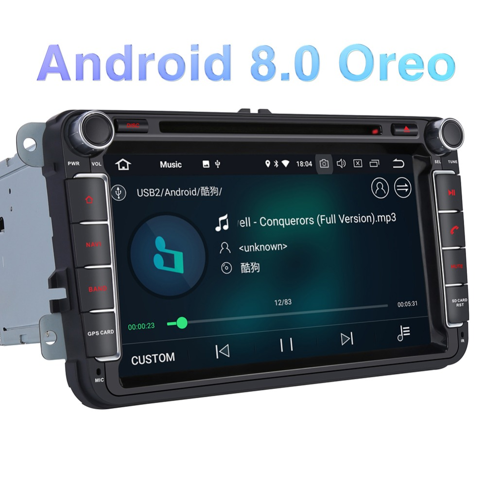 Pumpkin 2 Din 8 Car Multimedia Player Android 8.0 GPS Autoradio Fast Boot Stereo For Volkswagen/Golf/Skoda Wifi 4G FM Radio
