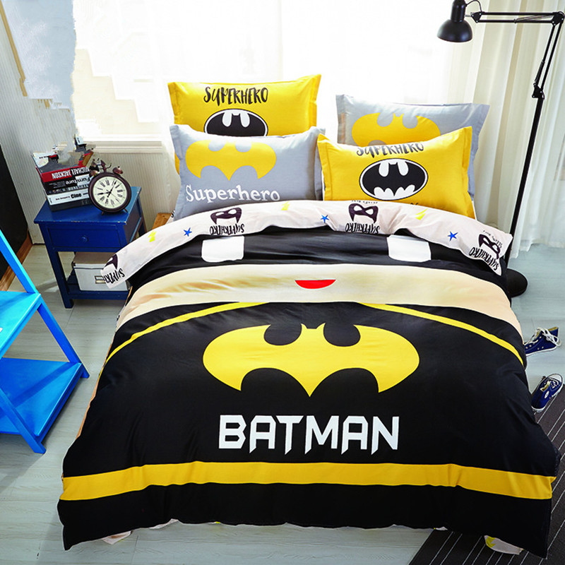 Baby Boys Batman Bedding Set/Kids Superman Superhero Duvet Cover/Sheet /Pillowcase/