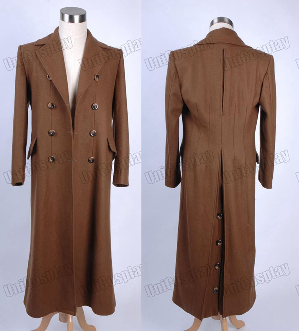 Aliexpress.com : Buy Doctor Who Brown Long Trench Coat Suit Wool ...