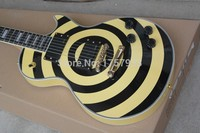 Free Shipping Factory custom shop 2017 new bullseye ZAKK WYLDE black and yellow Electric guitar limited edition EMG pickup 1 1