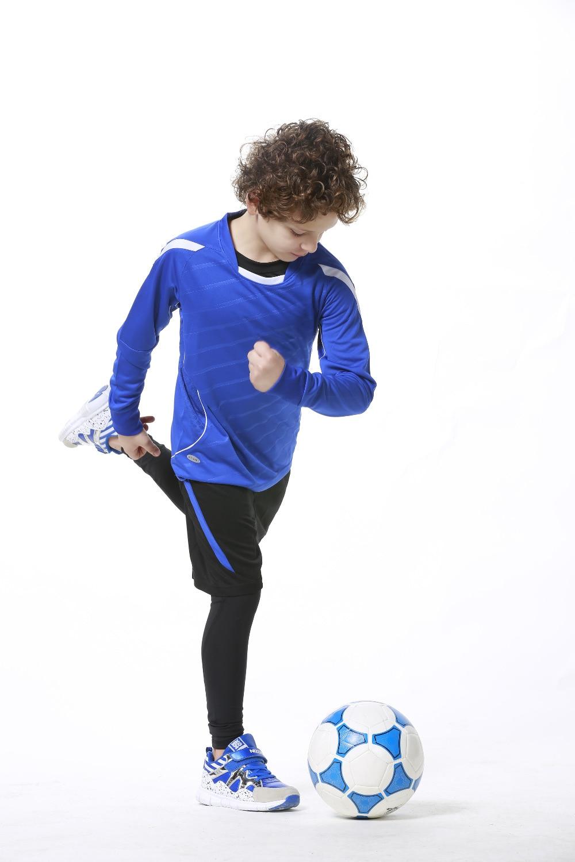 8482306437b kids Soccer football jersey boys football jerseys long-sleeve paintless  sports wear jersey training costume suit ...