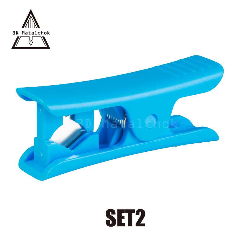 3D Yazıcı Mini Taşınabilir Tel Stripper Bıçak Ptfe Tüp Kesici Için Teflonto Tüp Hotend Prusa I3 Mk8 Ender 3 Ekstruder kiti Araçları