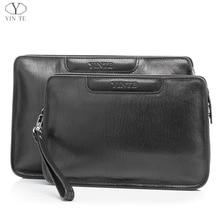 YINTE 2016 Fashion Men's Clutch Wallets Leather Men Big Bags High Quality Genuine Leather Men Business Clutch Bag Soft 8359-1