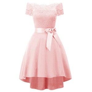 Кружевное женское платье, элегантное женское платье со шлейфом, вечерние платья с открытыми плечами и бантом на поясе, торжественная одежда...
