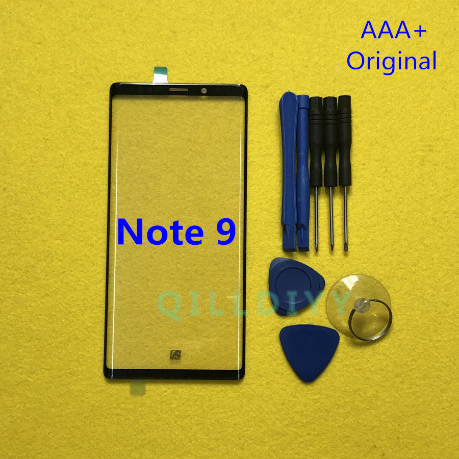Original Front Screen LCD Glass Lens Outer Glass Repair Replacement For Samsung Galaxy Note9 Note 9 N960 N960F + Tools