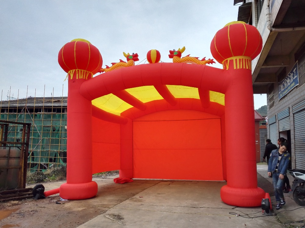 7*4.2*4 meters party event photo booth for sale and party inflatable booth tent walls romatic inflatable light ivory for event and party decoration