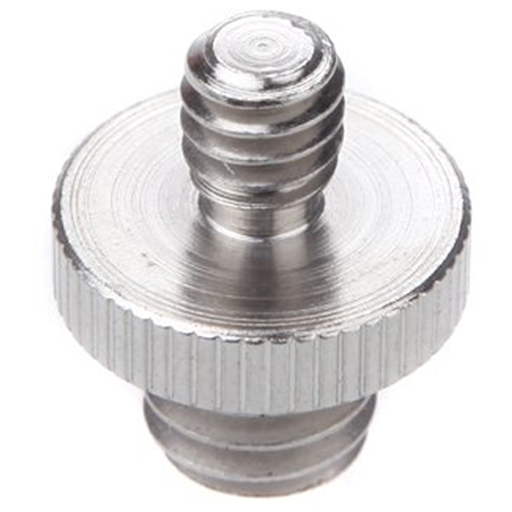 THGS 1/4 Male to 3/8 male threaded Double male screw adapter metal 1 4 male to 1 4 male 3 8 screw set silver