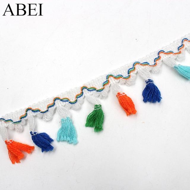 5yards/lot Rainbow Tassel Lace Ribbon 6