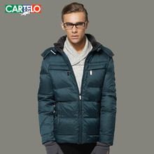 CARTELO Winter herren Business Freizeit Schlank Verdicken 90% Ente Daunenjacke Mantel mit Kapuze Kurzen Absatz S-3XL
