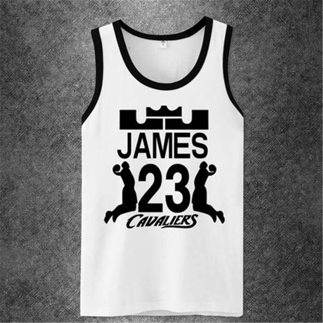 save off fab0e 475f6 LeBron James tank top Stephen Curry Wade Allen Iverson CP3 Kobe Bryant  Undershirt Workout tank top shirt casual brand singlet