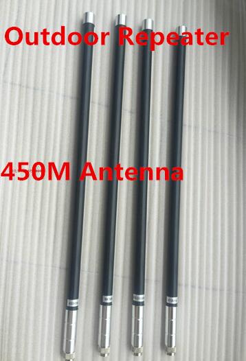 UHF450M al aire libre repetidor antena omni de fibra de 450 M de dos vías de la estación base antena N macho