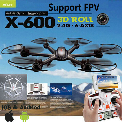 MJX X600 2.4G RC quad copter drone rc helicopter 6-axis can add C4002&C4005 camera(FPV) R/C quadcopter (Ship with Small package) image