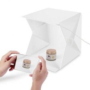 Image 2 - صندوق إضاءة صغير محمول قابل للطي استوديو التصوير الفوتوغرافي صندوق لين LED صور صندوق لينة آيفون DSLR كاميرا صور خلفية