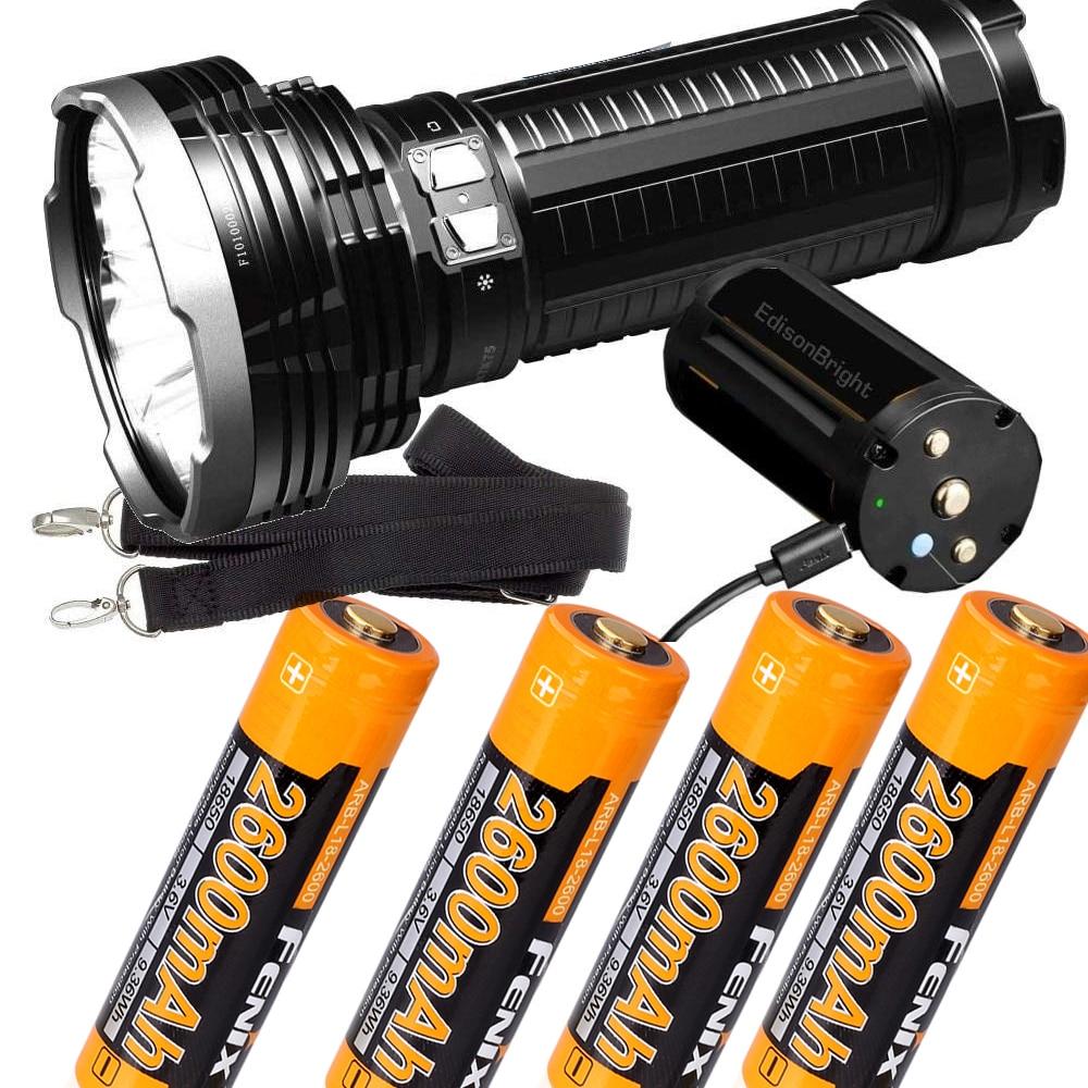 FENIX TK75 5100 Lumen 929 yards beam 2018 Edition CREE LED USB rechargeable Flashlight with 4 x Fenix 2600mAH 18650 BatterY fenix hp25r 1000 lumen headlamp rechargeable led flashlight