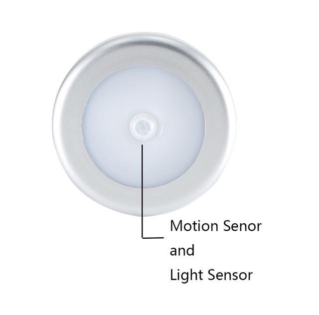 2 pcs Led under cabinet light with motion sensor and light sensor battery operated lamp in Wardrobe closet smart super Joneaz