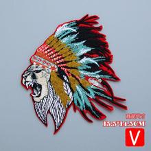 embroidery big Indian tiger patches for jackets,animal badges jeans,cartoon appliques clothing A571