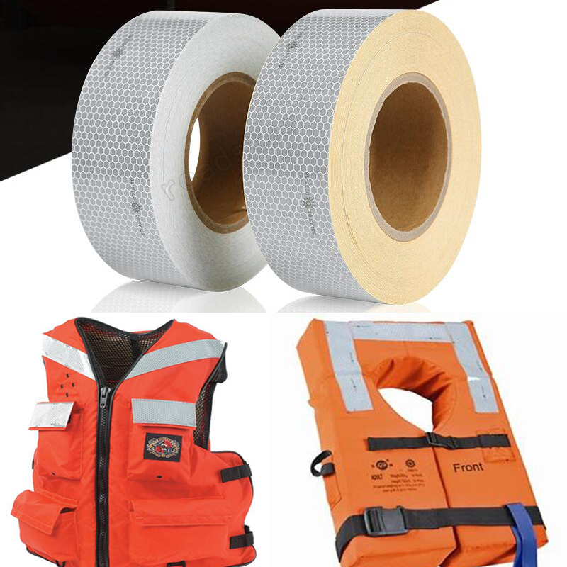 5cmx5m  Solas Grade Marine Reflective Tape For Life-Saving Products Sewing On Clothes